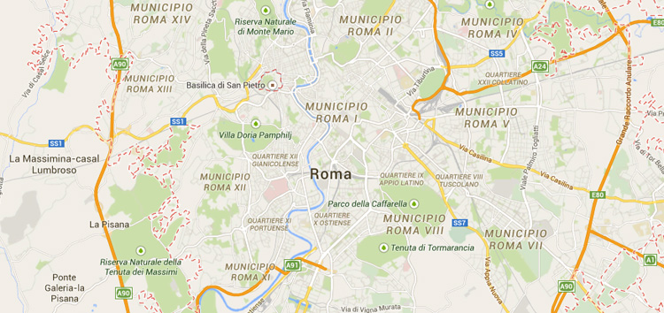 HOME ECMS 2015 – Map Of Rome Showing Tourist Attractions